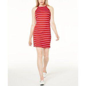 Maison Jules Midi Halter Dress Red White Small